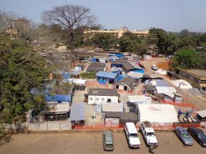 Centro de Ébola. Guinea